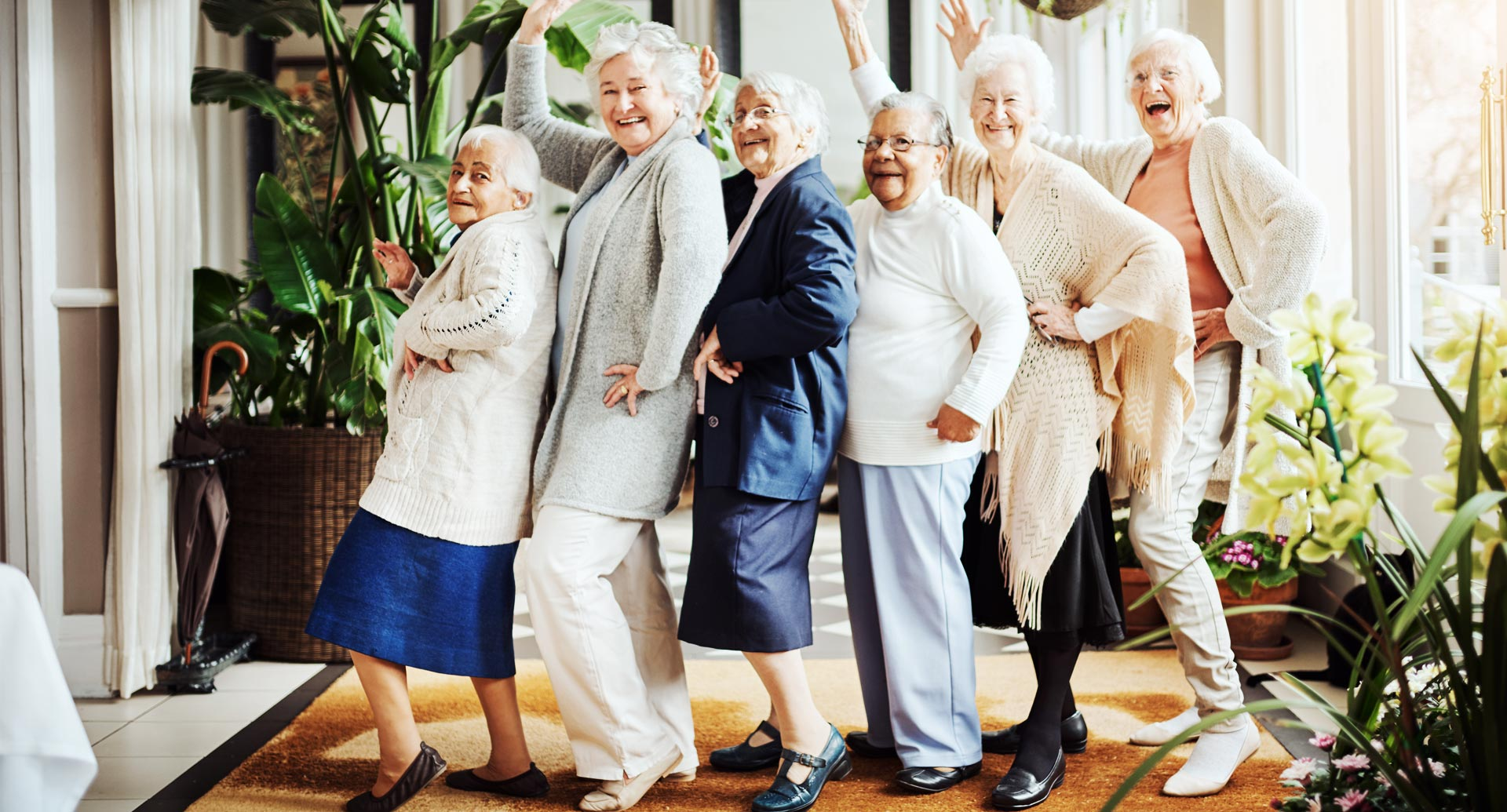 Senioren glücklich